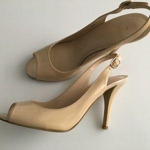 Enzo Angiolini Beige Slingback Sandals 6.5
